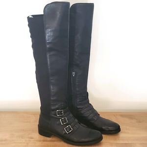 Vince Camuto Knee-High Black Boots